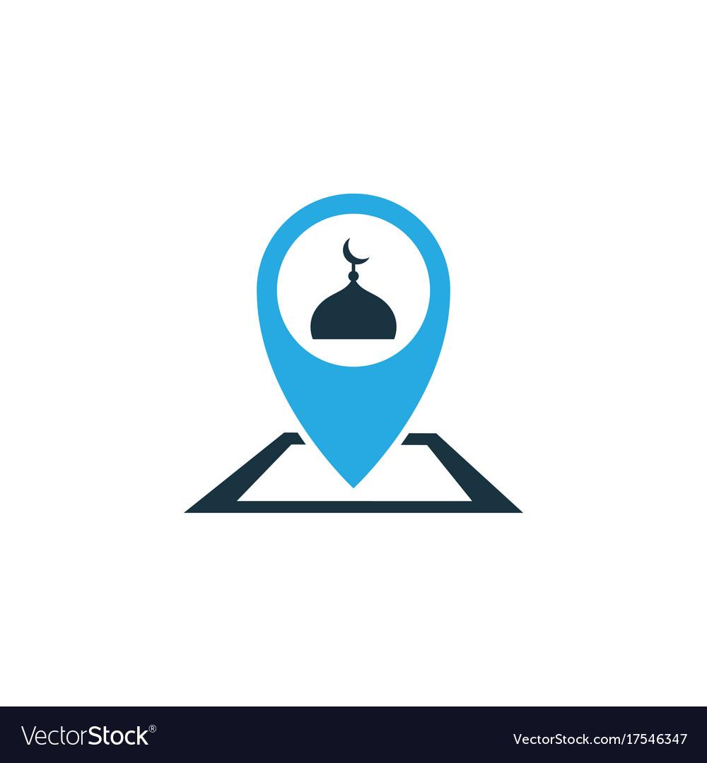 Place colorful icon symbol premium quality vector image