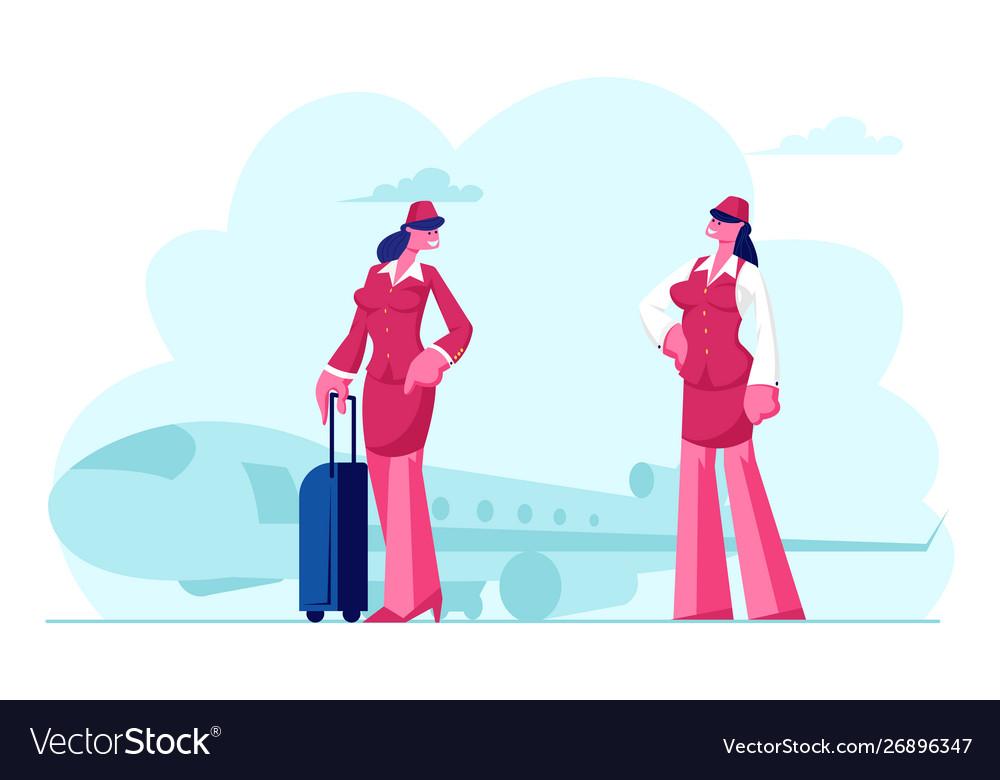 Stewardess flight attendant air hostess girls