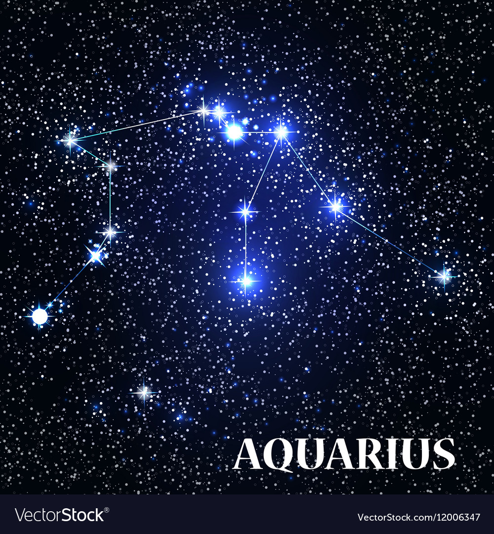 Symbol Aquarius Zodiac Sign Royalty Free Vector Image