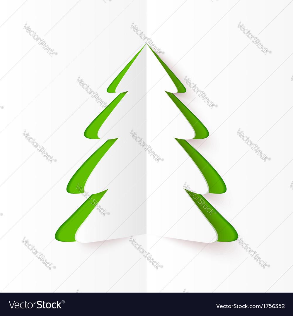 Christmas Tree Cutout.Green Cutout Paper Christmas Tree