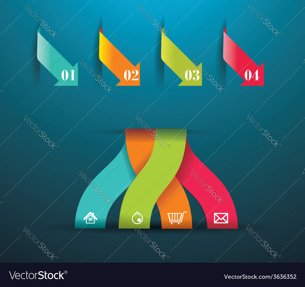 Modern origami style number options banner