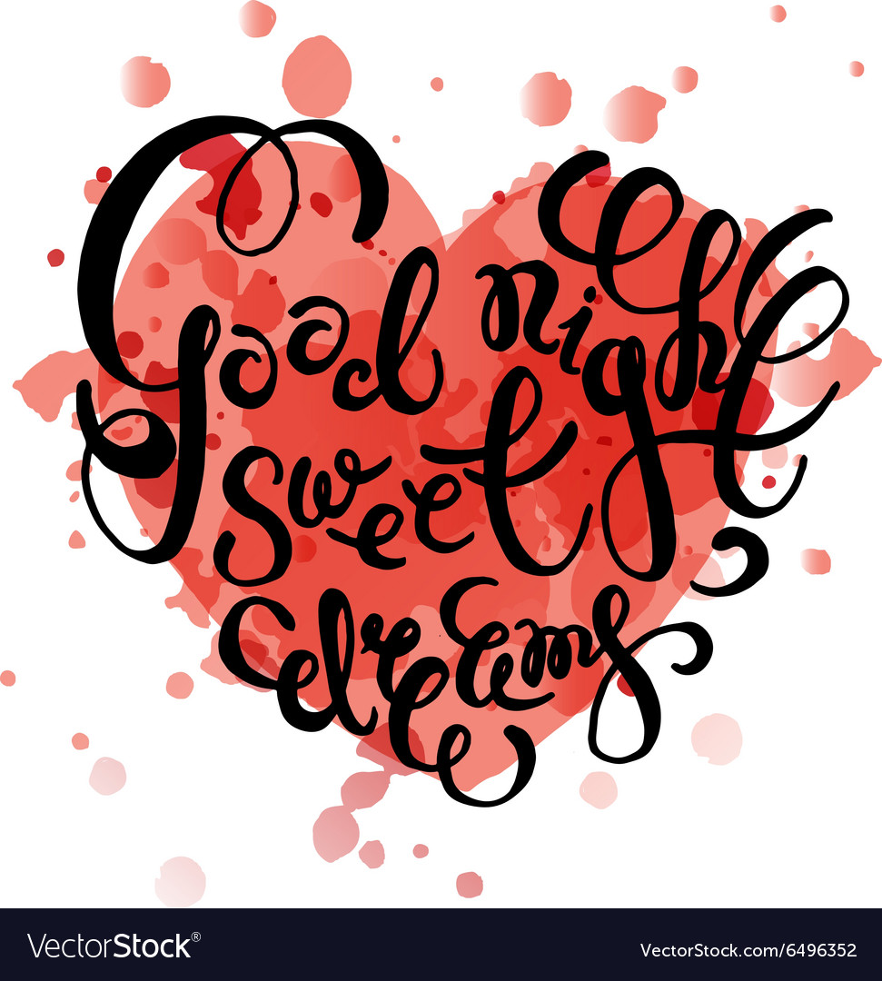 Good Night Sweet Heart Vector Images 36
