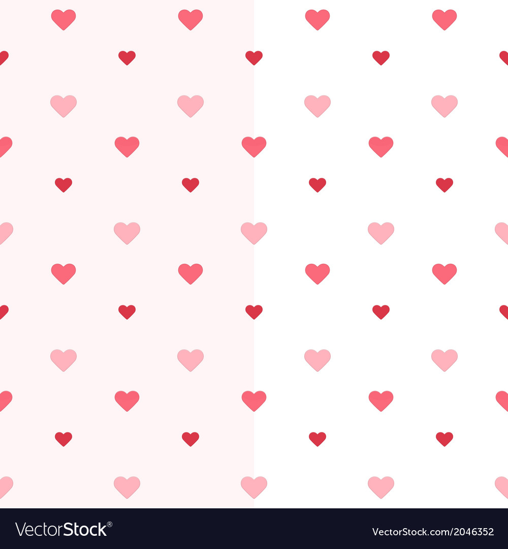 Seamless heart pattern two pink colours