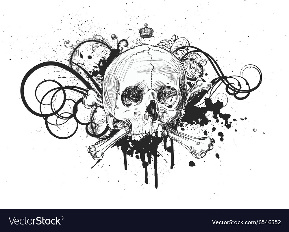 Sketch Skull Emblem