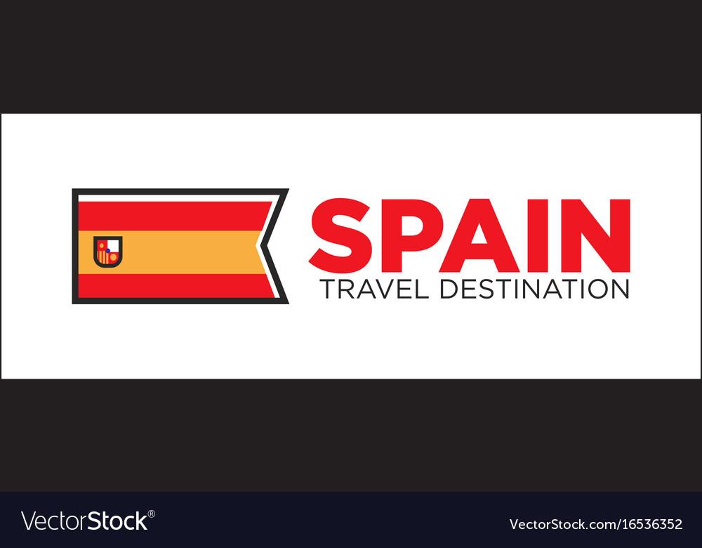 Spain travel destination banner
