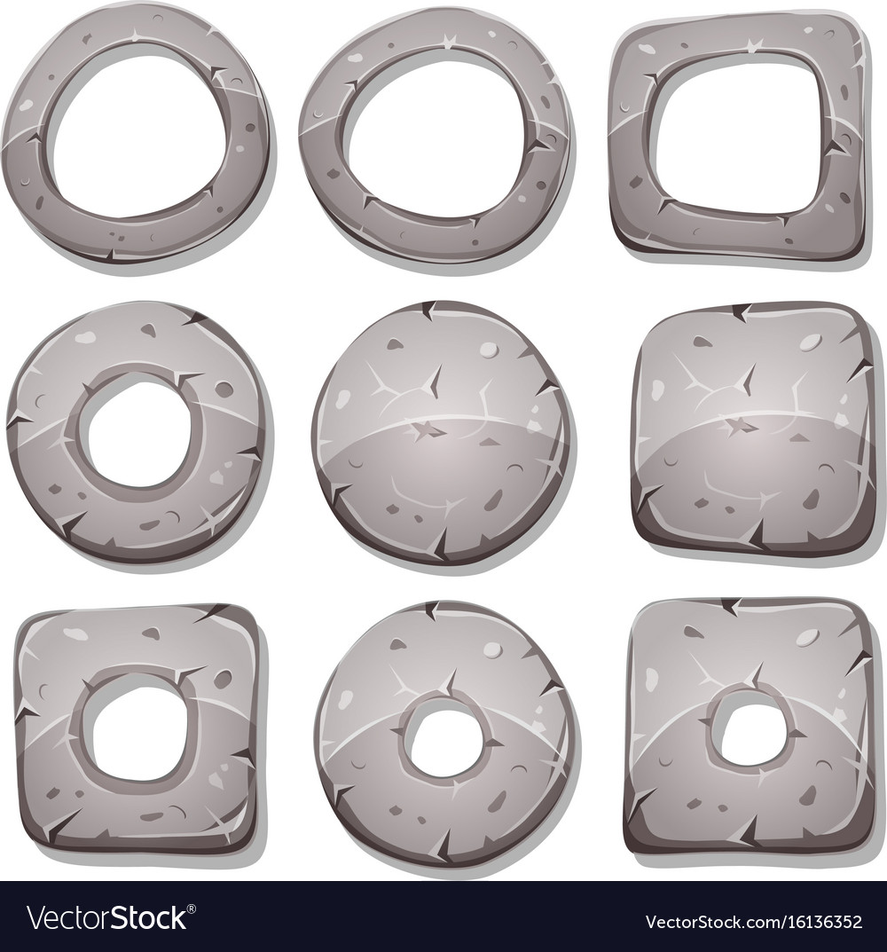 Stone rings circles and shapes for ui game