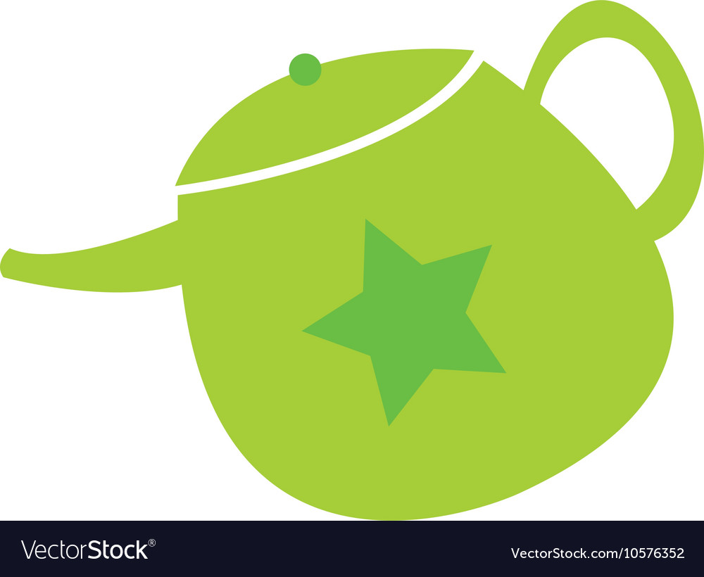 Teapot cute isolated icon