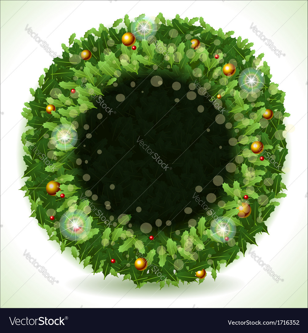 Wreath Christmas with Black Placeholder