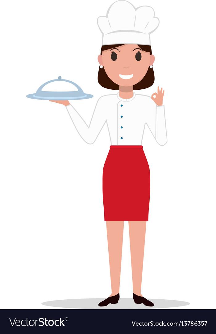 Cartoon chef cook woman