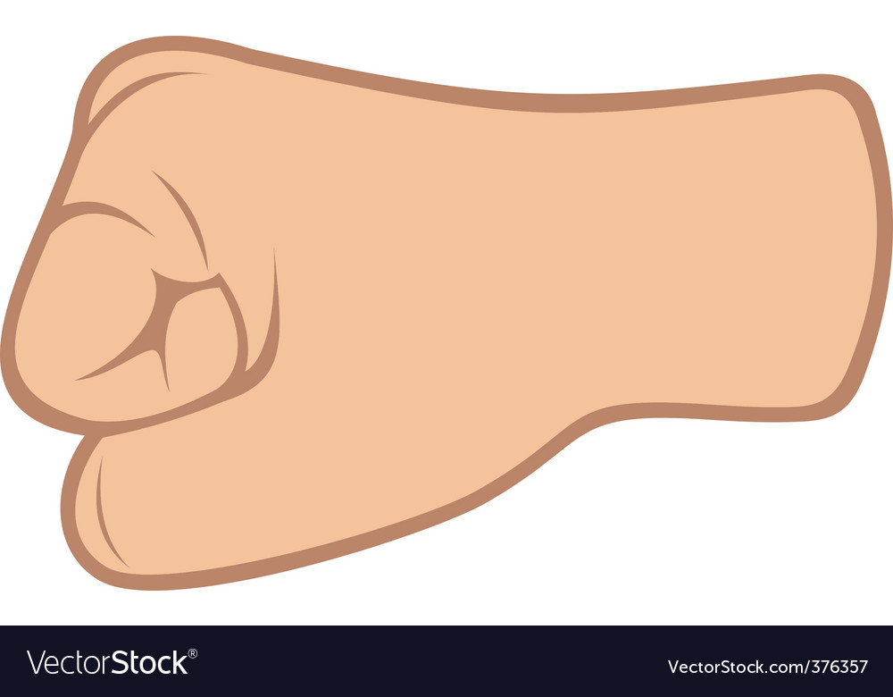 Fist isolated on white background vector image