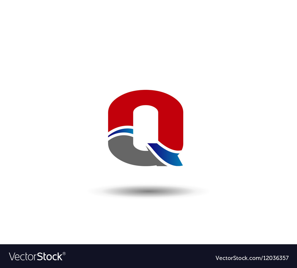 Q company logo and symbol Design vector image
