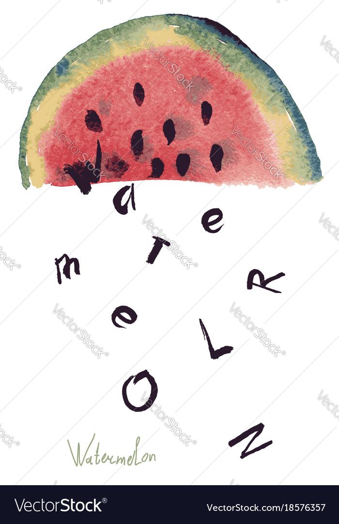 Watercolor of watermelon