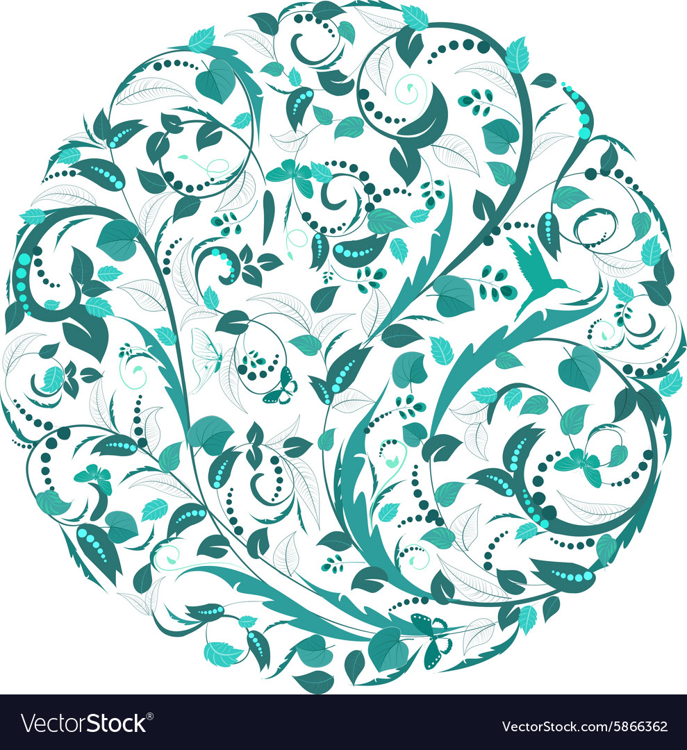 Abstract circular pattern of floral