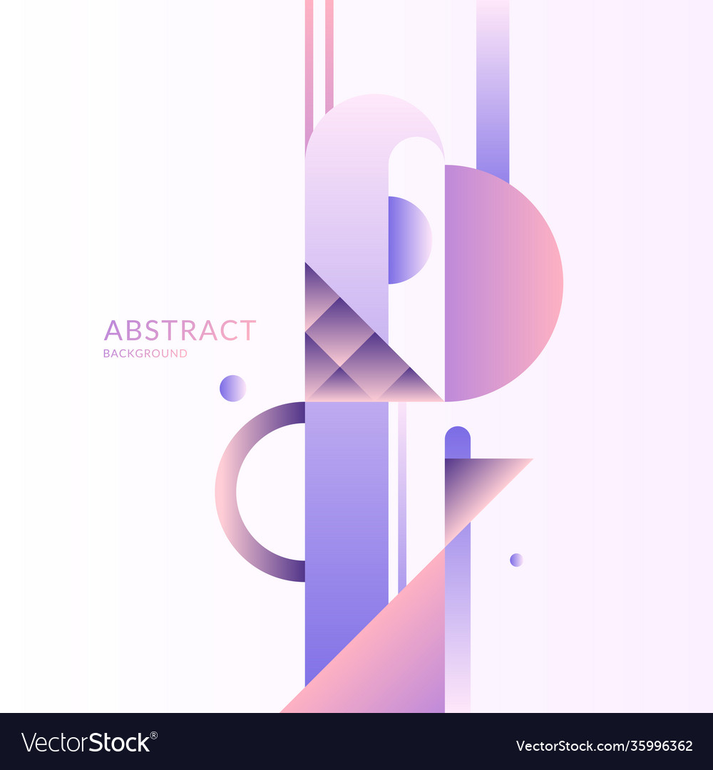 Composition with dynamic and geometric shapes vector