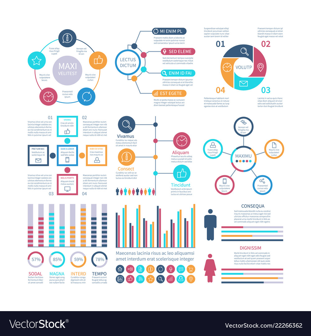 Infographic elements modern infochart marketing