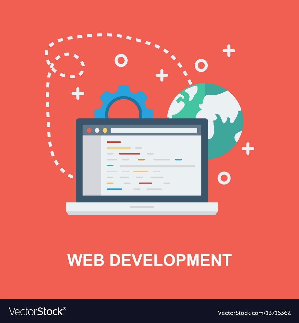 Web development concept design