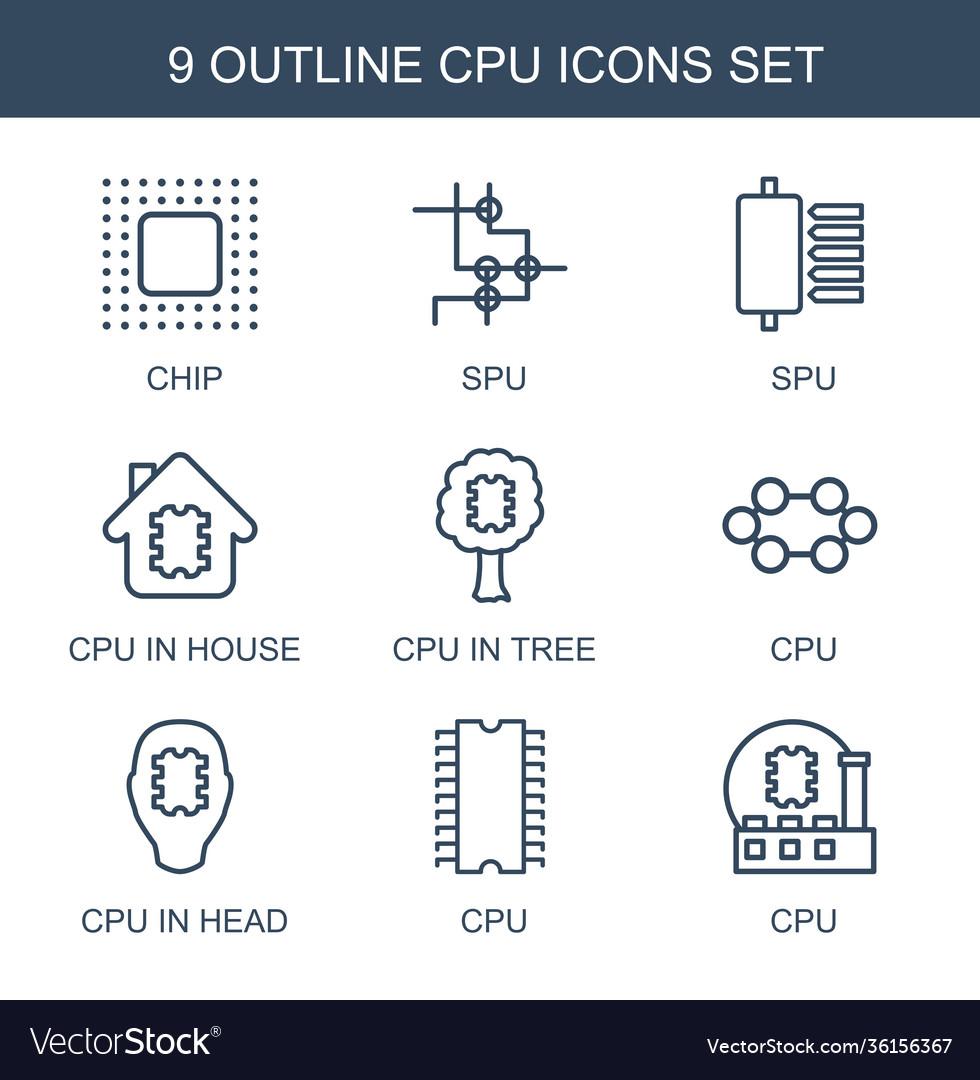 9 cpu icons