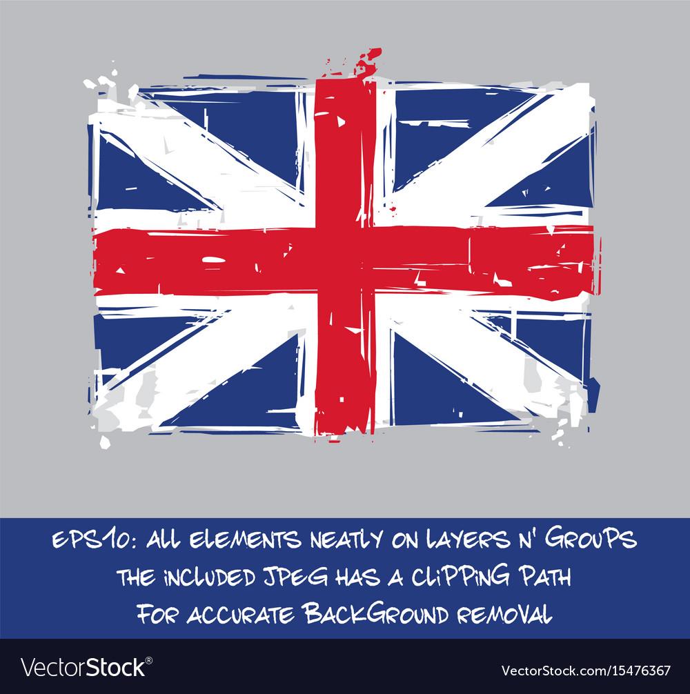 American Revolution British Flag Flat Artistic Vector Image