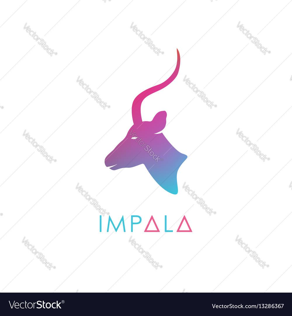 Artistic stylized antelope logotype