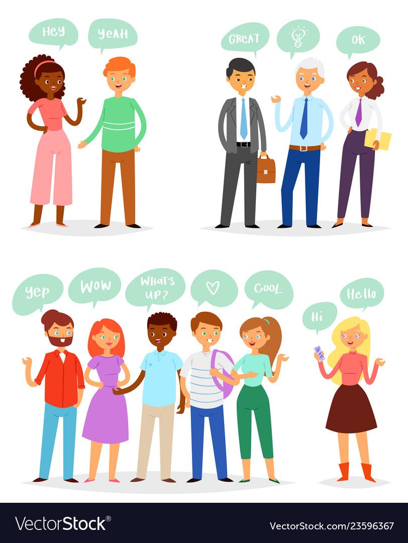 Bubble people bubbling speech communication