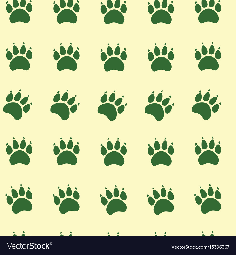 Cat or dog paw seamless pattern - animal