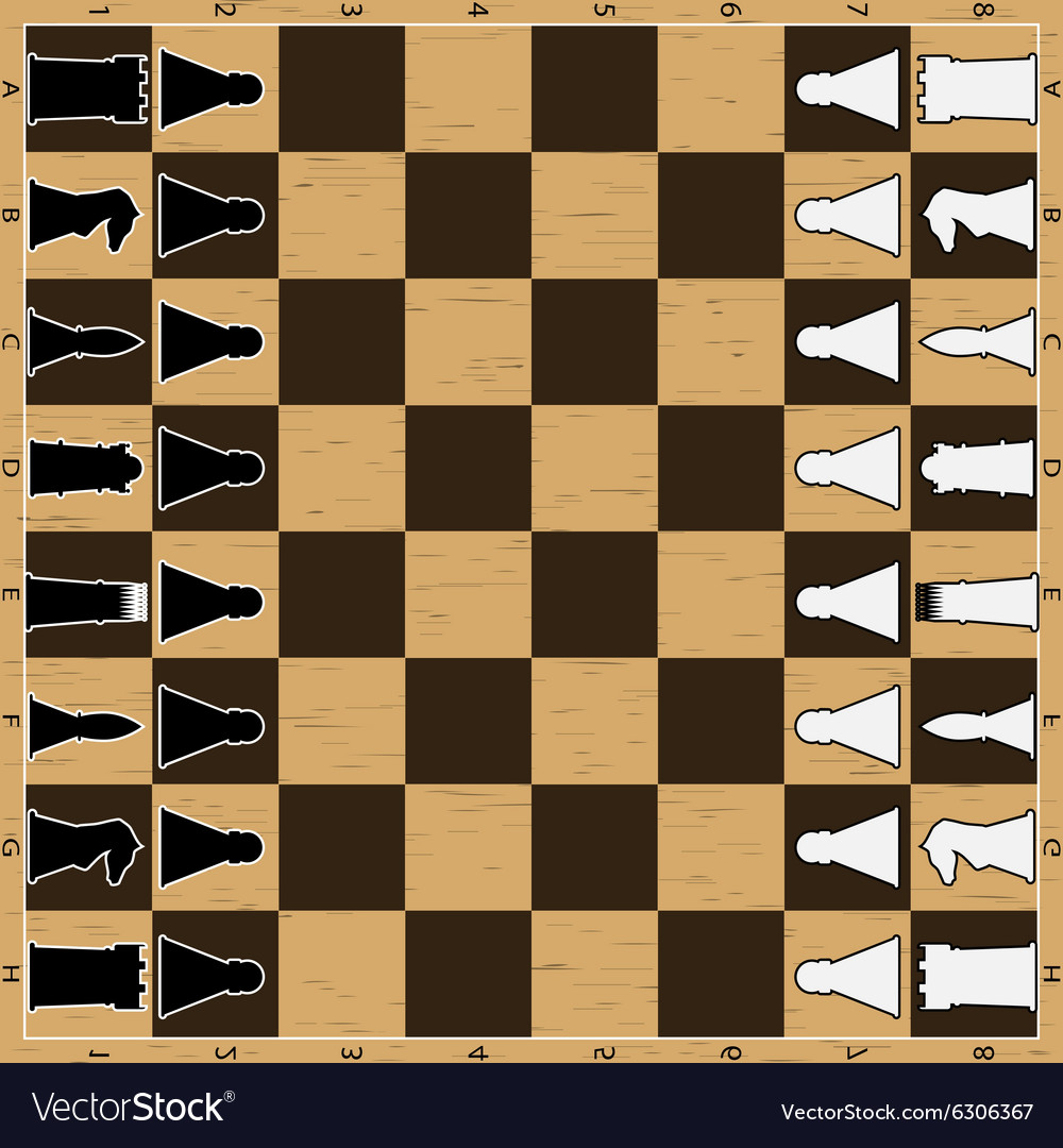 Chess board with figure
