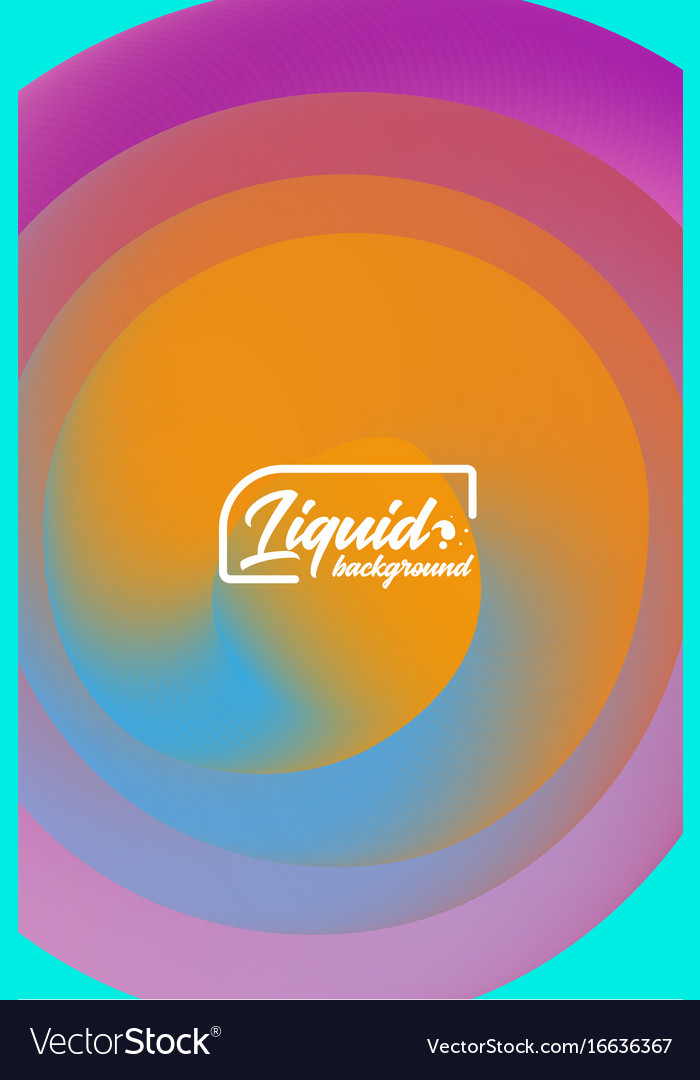 Cover template with abstract liquid objects
