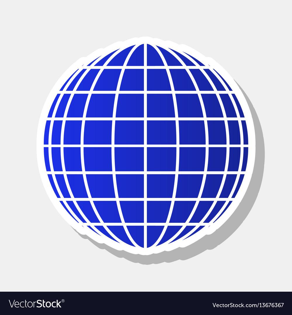 Earth globe sign new year bluish icon
