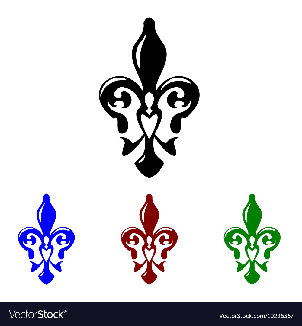 Fleur de lis symbol French lily icon