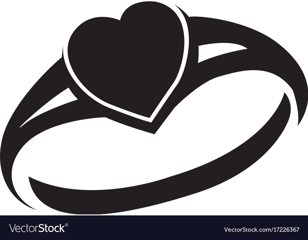 Ring silhouette Royalty Free Vector Image VectorStock