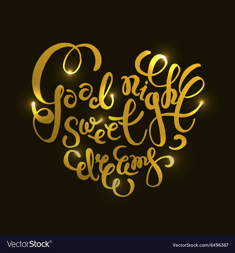 Romantic Quote Good Night Sweet Dreams Royalty Free Vector