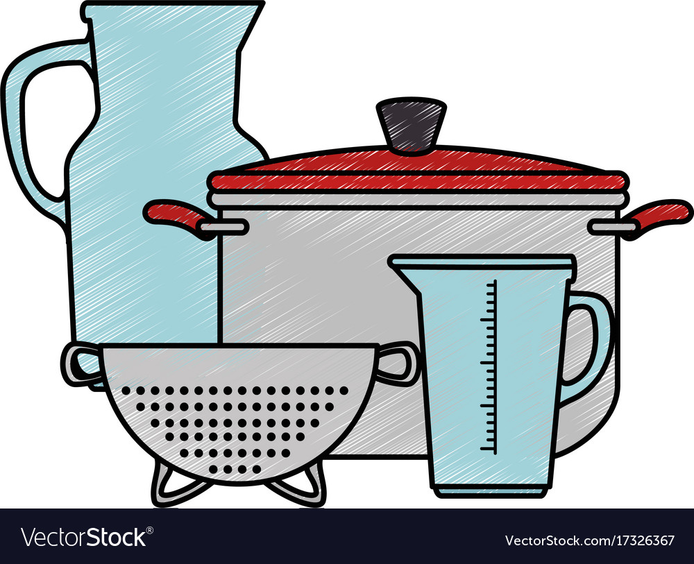 Set of kitchen containers Royalty Free Vector Image