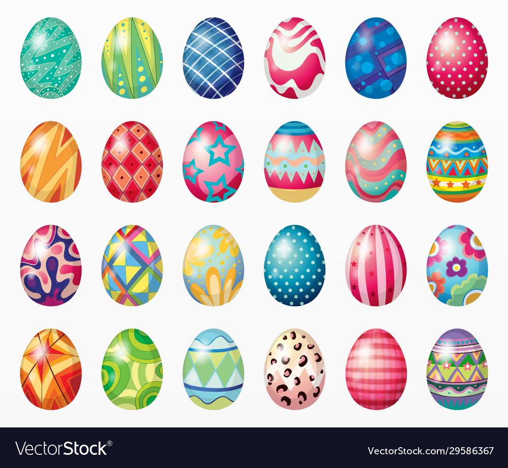 Variety easter eggs set