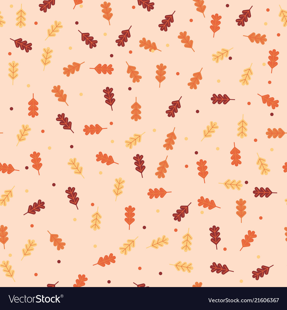 Vintage autumn fall leaves pattern background