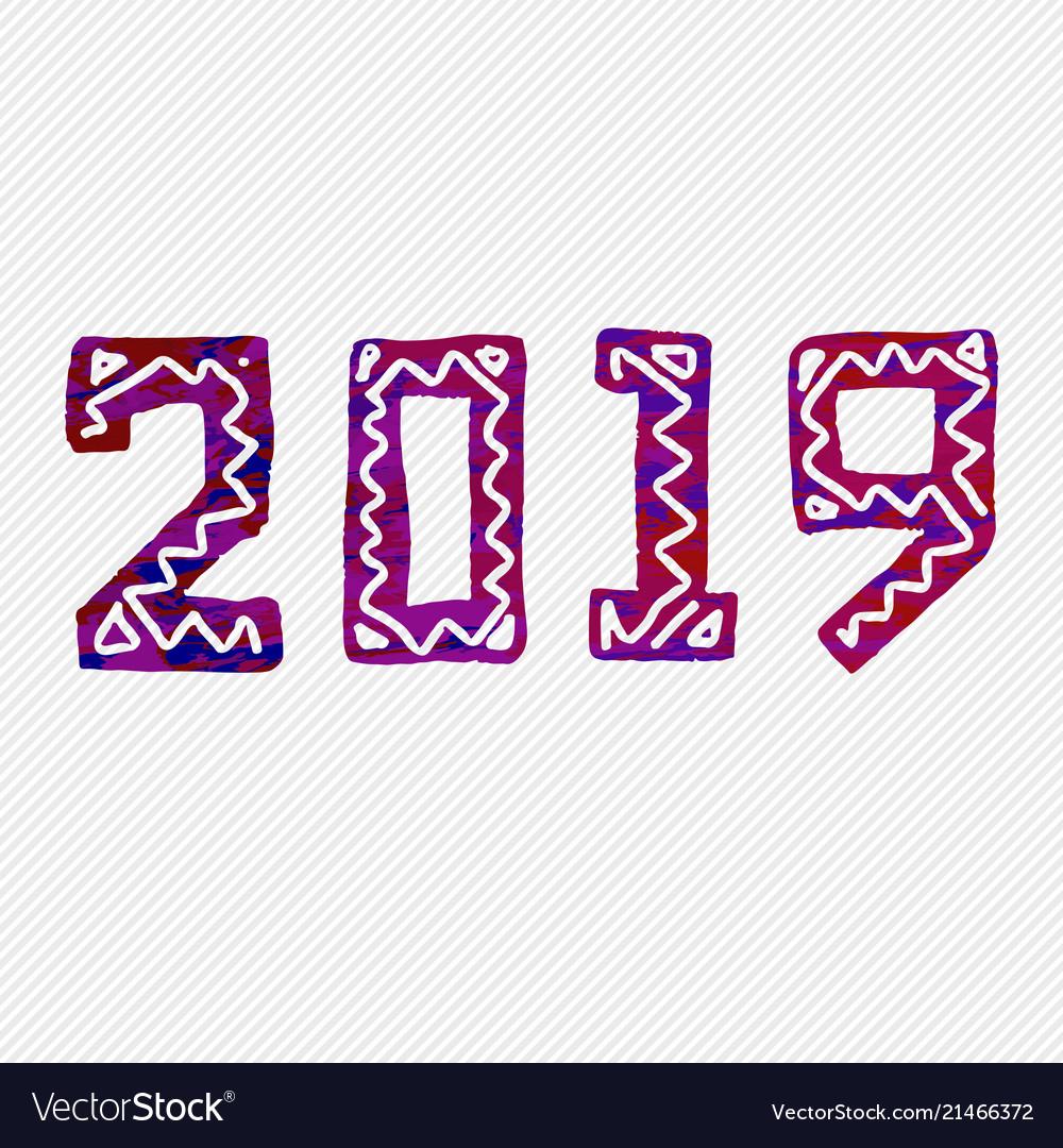 2019 grunge stamp new year sign
