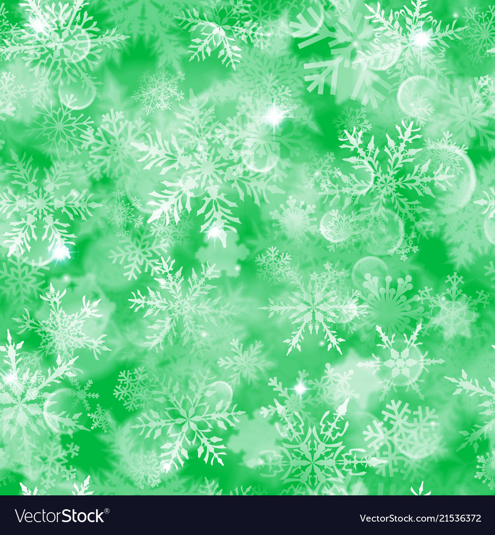 Christmas seamless pattern of blurred snowflakes