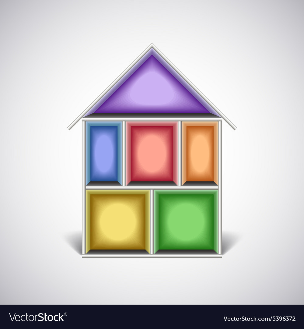 Colorful empty house rooms in cut royalty free vector image colorful empty house rooms in cut vector image ccuart Choice Image