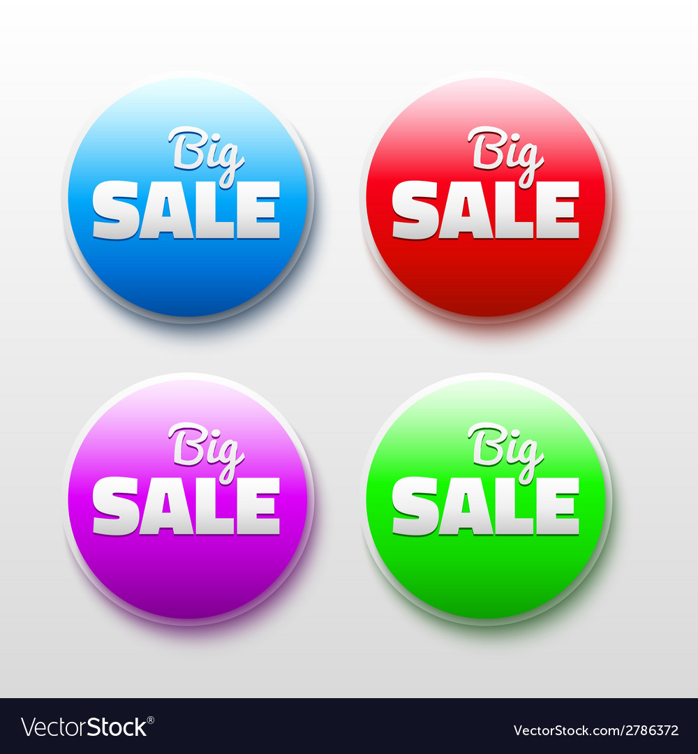 Design elements with sale text 3D Abstract labels