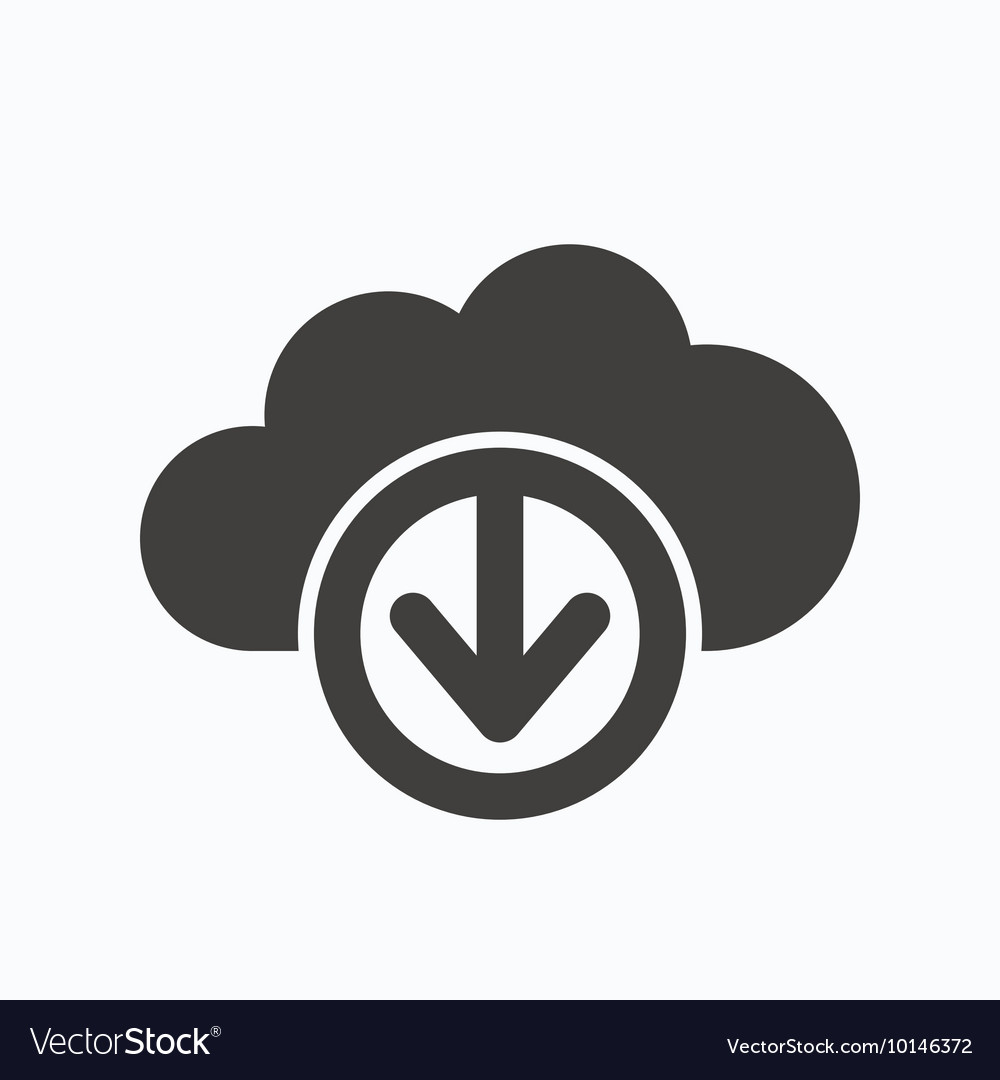 Download from cloud icon Data storage sign