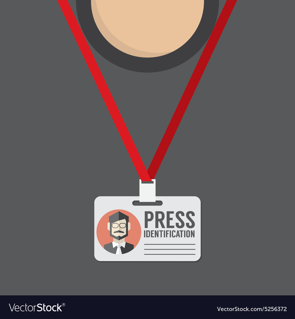 Flat Design Press Identification