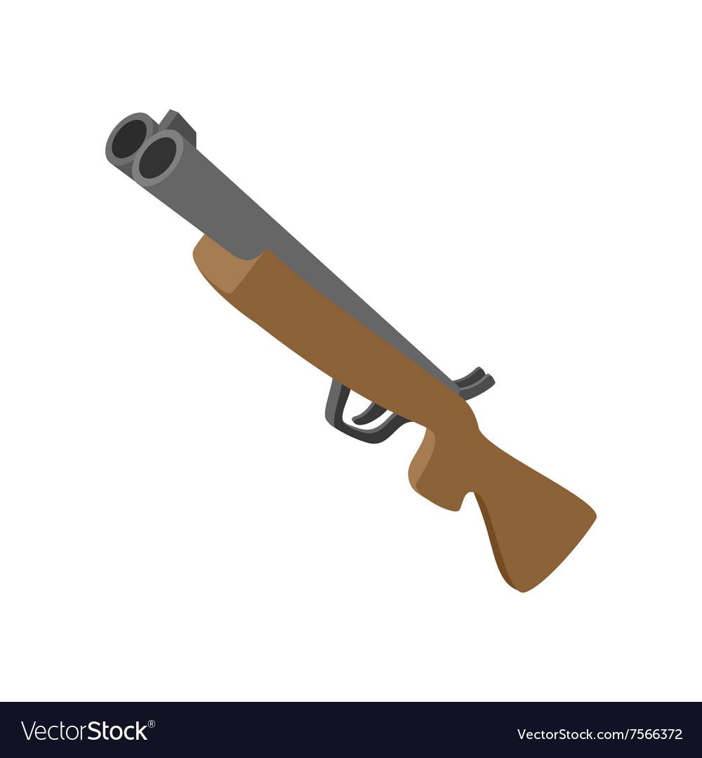 Hunting rifle cartoon icon vector image