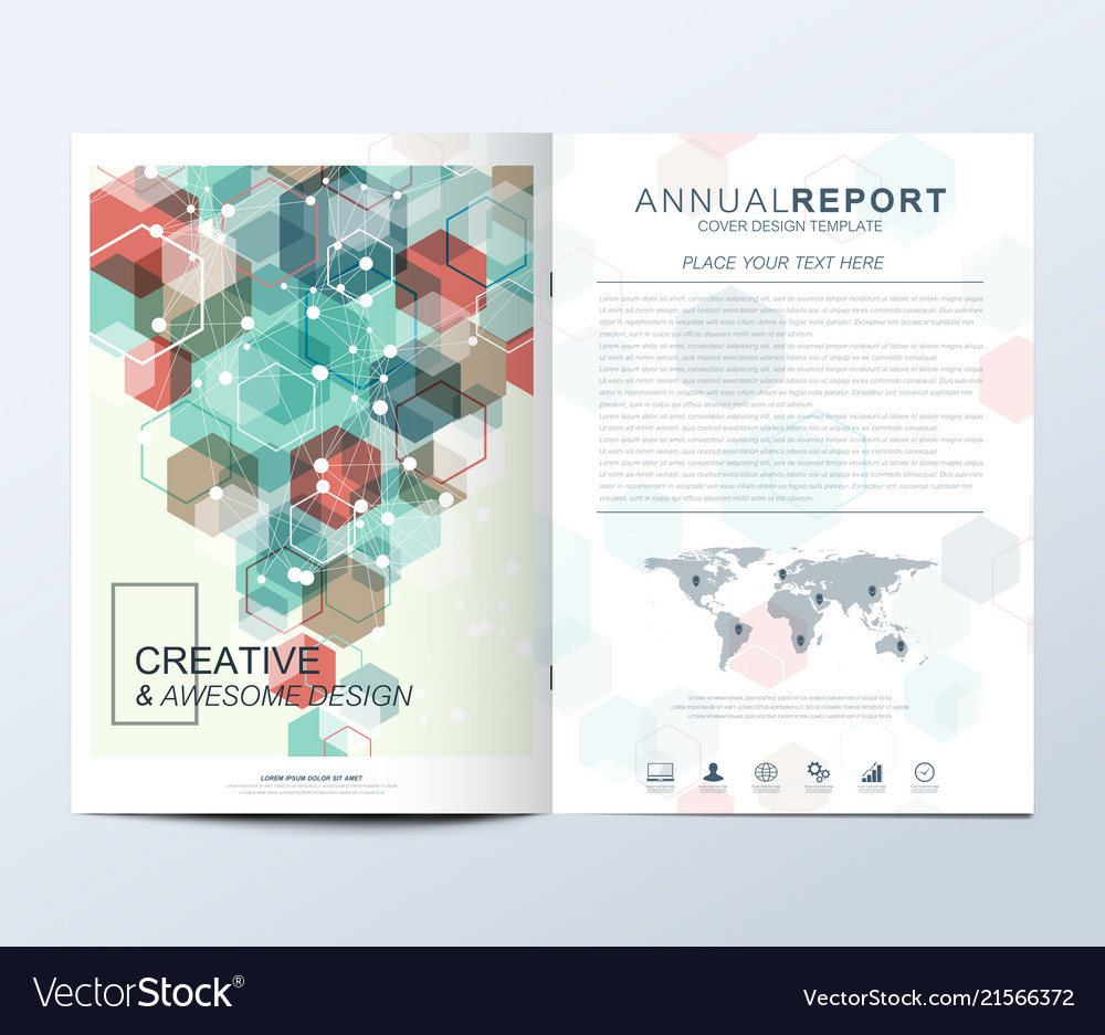 Modern template for brochure leaflet