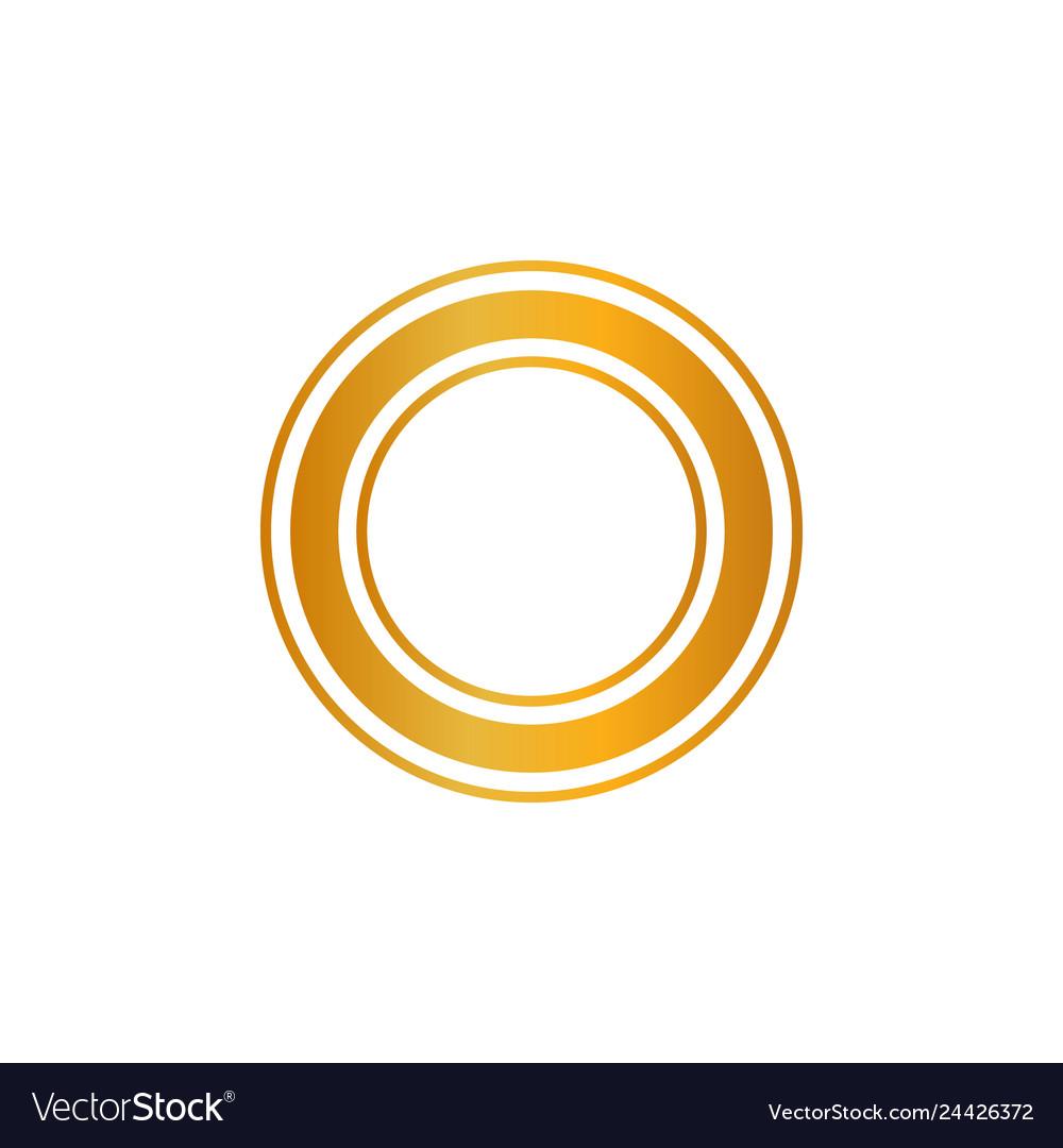 Premium quality shiny golden label luxury badge