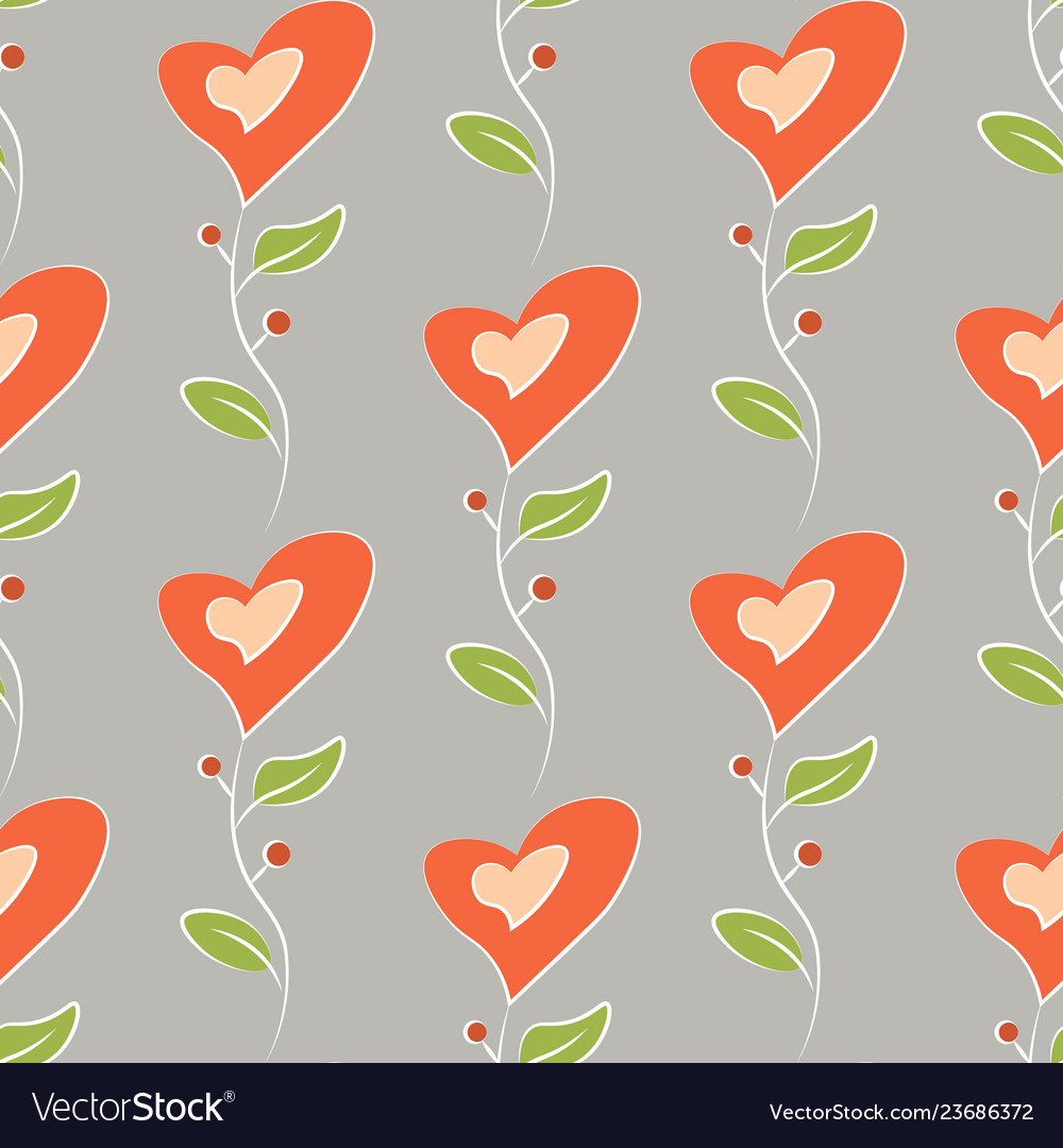 Romantic love seamless pattern colorful flowers