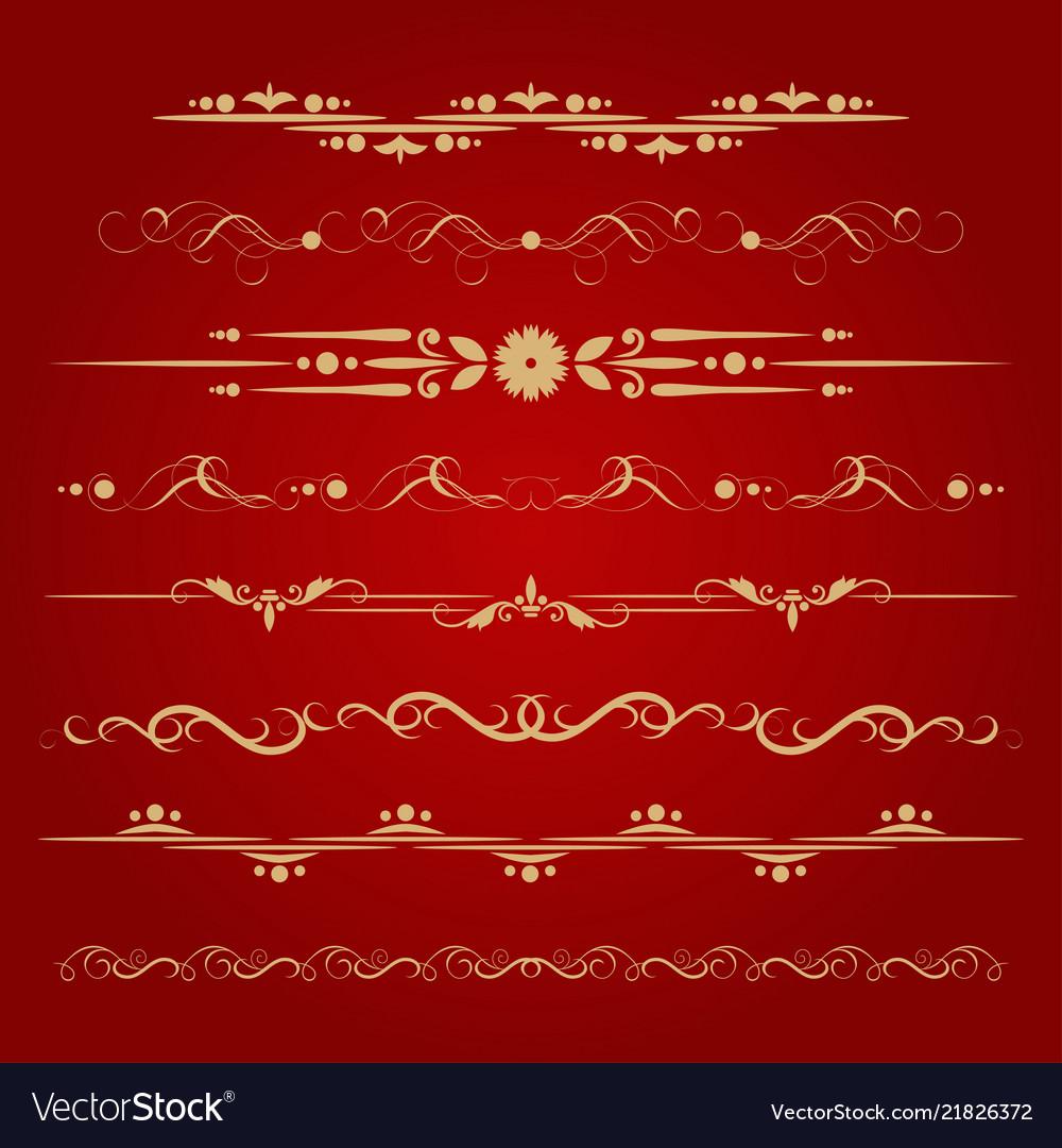 Set of decorative delimiters