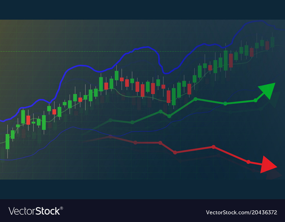 Forex Trading Graph And Chart Vector Image