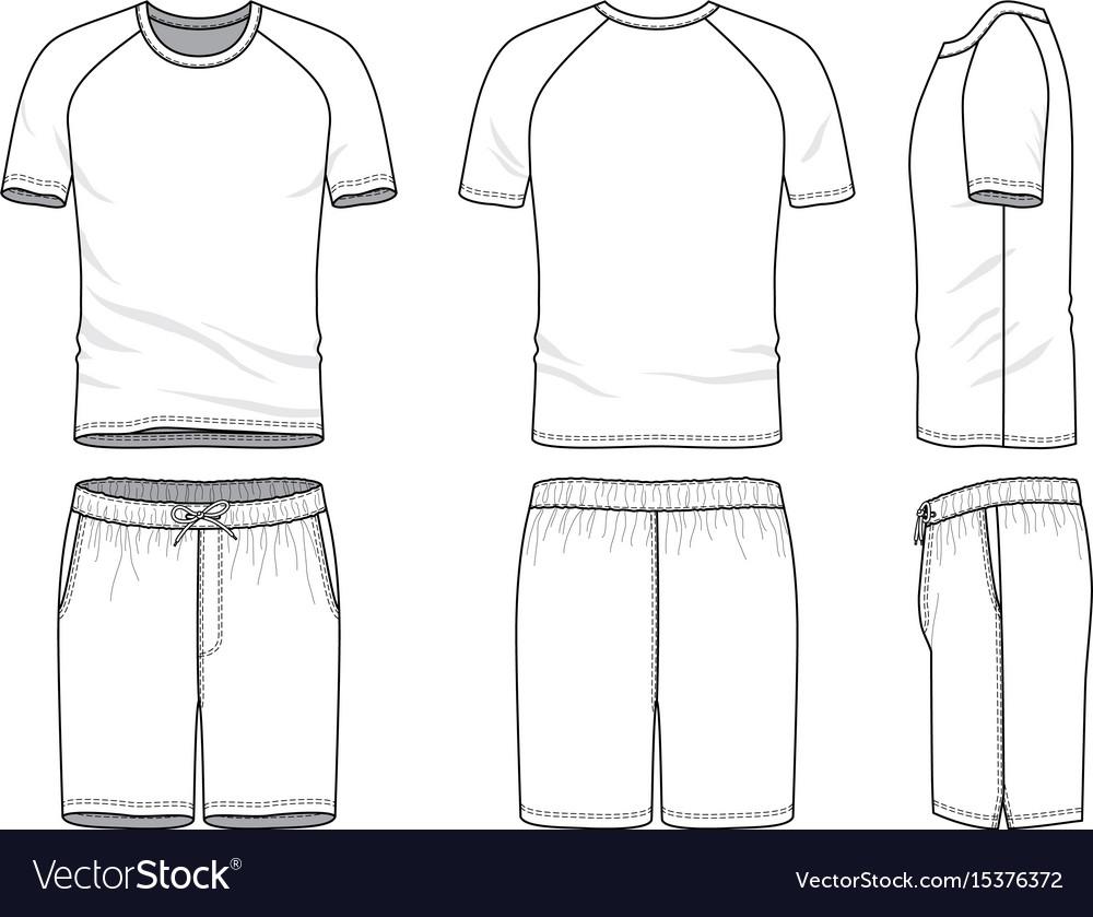 Templates Blank T Shirt And Shorts Royalty Free Vector Image