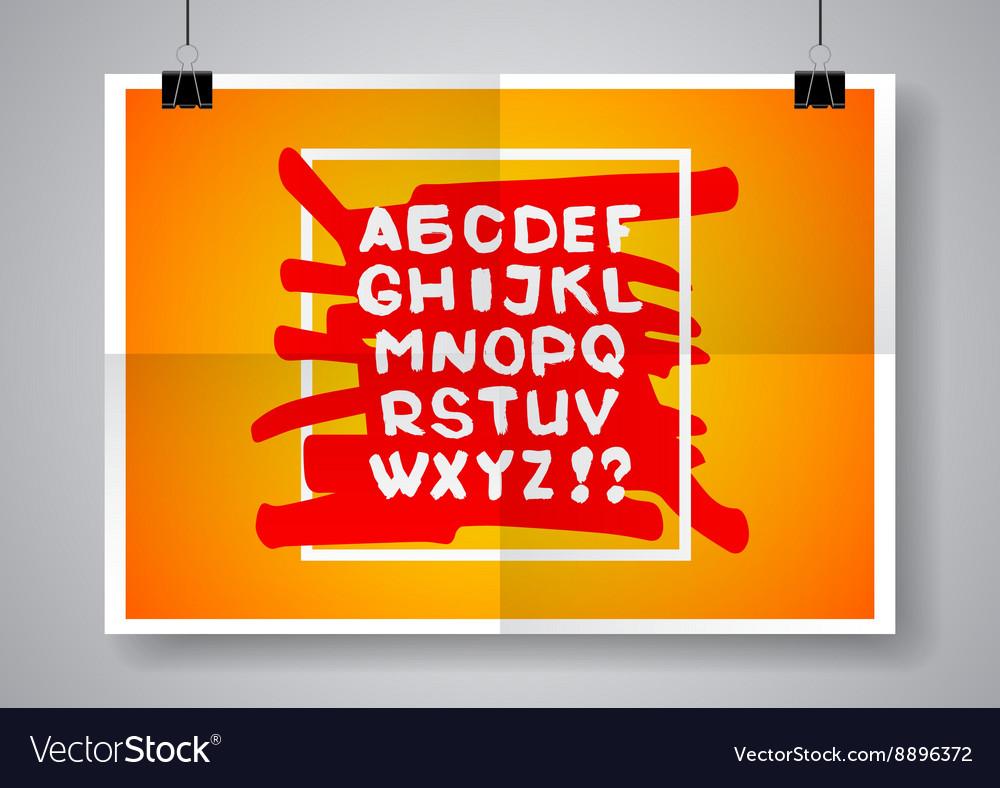 White English alphabet on a bright background