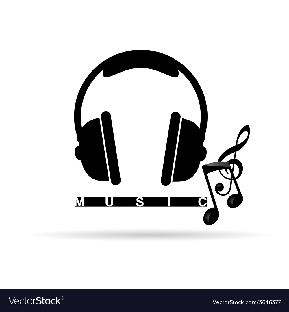 Headphones With Music Notes Royalty Free Vector Image