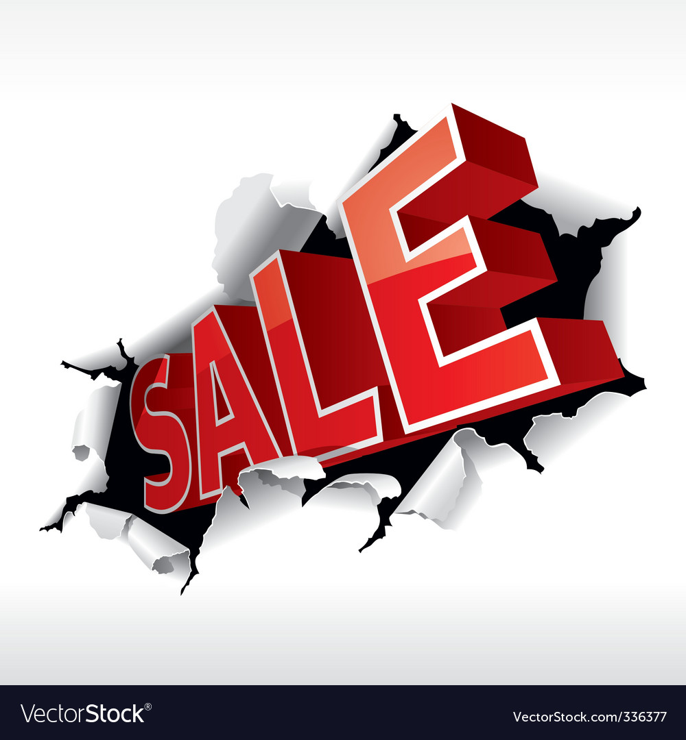 sale sign royalty free vector image vectorstock rh vectorstock com vector for sale gun vector for sale gun